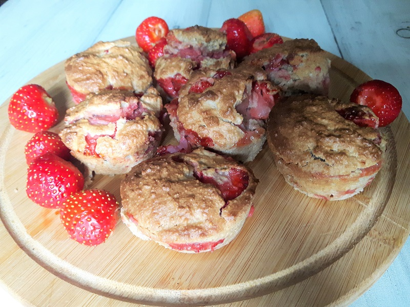 Muffinki z truskawkami w wersji fit