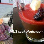 MUS czekoladowo – kawowo – truskawkowy