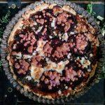 Tarta z burakami i pieczarkami
